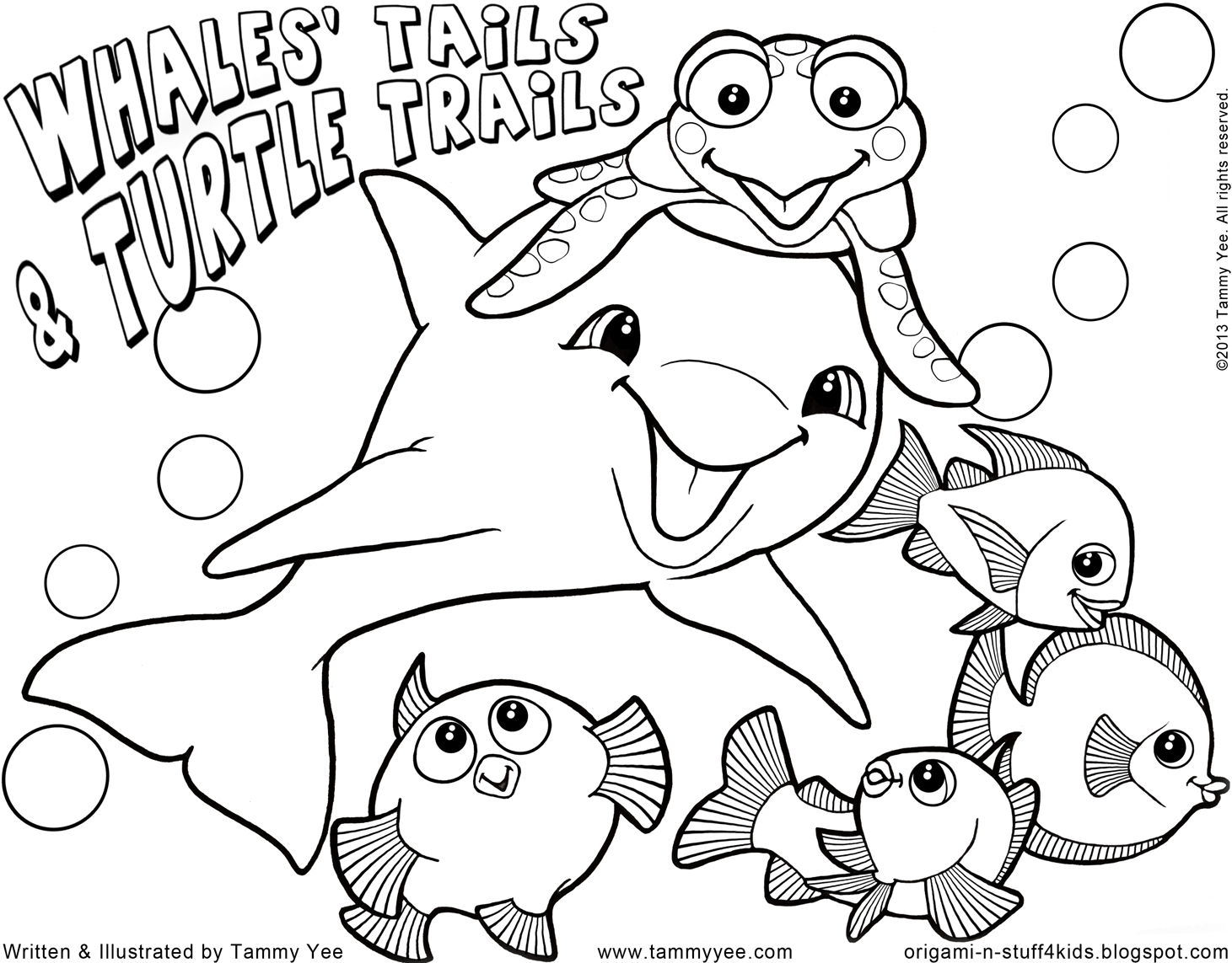 Origami N' Stuff 4 Kids: Coloring For Kids: Whales' Tails