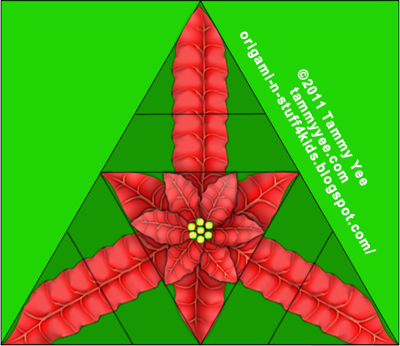 Origami n stuff 4 kids origami poinsettia print and cut out christmas origami poinsettia mightylinksfo