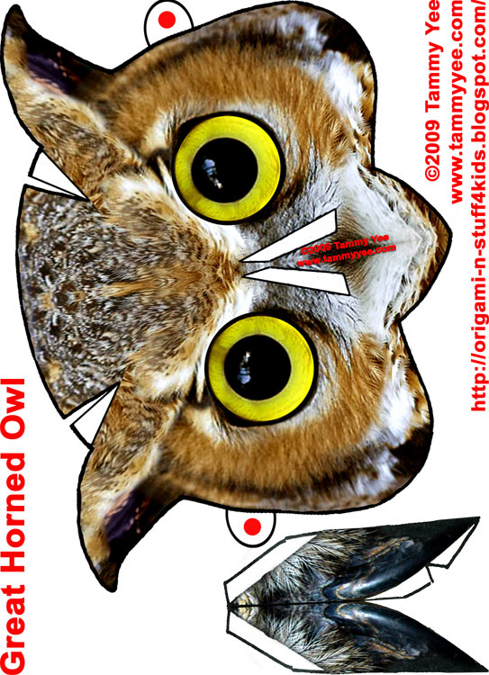 Print And Cut Out Owl Mask: