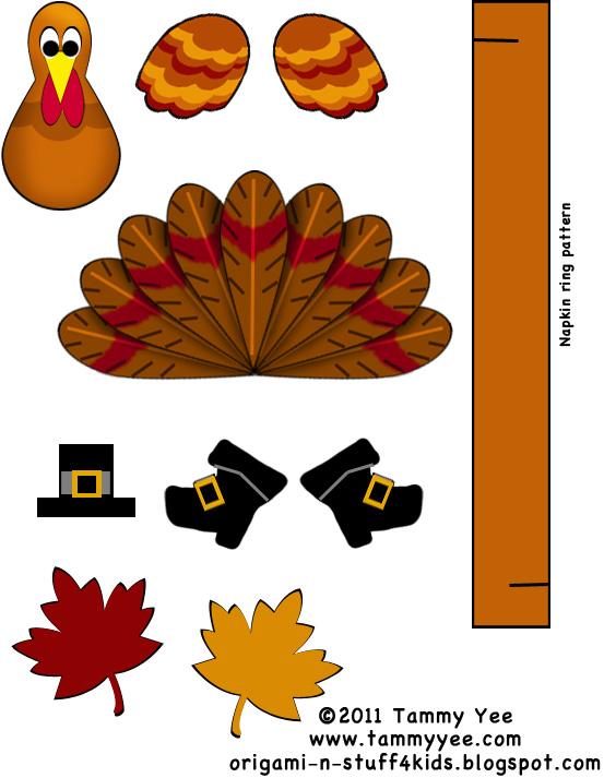 Origami N Stuff 4 Kids Thanksgiving Turkey Projects